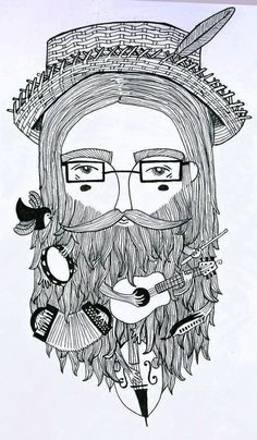 "Musical beard sketch.  Okay, ""Bad hair day"" sub lesson.  I'd like you to meet ""Bad beard day"" sub lesson.  Why not right? More options for the boys..."