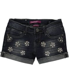 "38% Off was $16.00, now is $9.99! Vigoss ""Gem Flowers"" Short Shorts"
