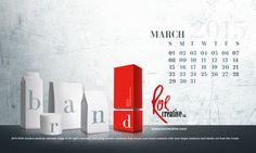 #calendar #desktop #brand #march