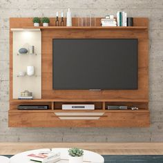 Painel para TV até 60 Polegadas Londres Savana e Off White Tv Unit Decor, Tv Wall Decor, Tv Cabinet Design, Tv Wall Design, Tv Showcase Design, Lcd Panel Design, Tv Wall Cabinets, Living Room Tv Unit Designs, Tv Unit Furniture