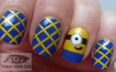 Behind Green Eyes: Despicable Me 2: Minion Nail Art