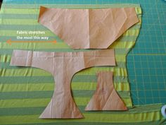 How to make the perfect fitting underwear pattern - would be a great use for scraps from repurposed T's