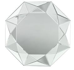 With it's raised geometric shapes, this contemporary mirror will be the focus of any room.