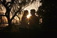 Stellar Silhouette Ideas for Egnagement Sessions: silhouette photo at sunset