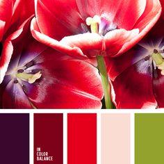 алый, бледно-пурпурный, весенняя цветовая палитра, зеленый, красный и пурпурный…