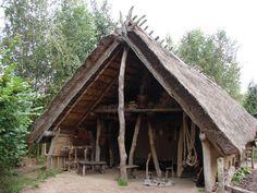 Hier zie je een huis van de boeren.