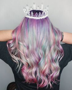 """This new """"color misting"""" technique is like tie-dye for your hair. Pastel Purple Hair, Dyed Hair Pastel, Kids Dyed Hair, Kid Hair, Bright Hair, Colorful Hair, Kids Hair Color, Hair Dye Colors, Creative Hairstyles"""