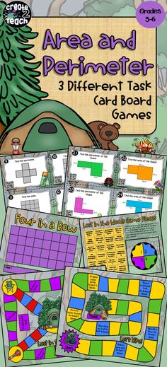 Your students will have fun practicing their area and perimeter skills as they try to find their way through the woods to their campsite in this camping themed math resource.