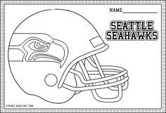 seattle seahawks printable page | Seattle Seahawks Helmet