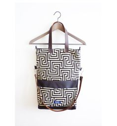 Large fold over canvas tote bag shopping bag door imolabynoemiimola