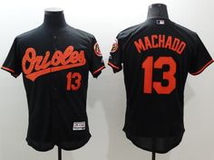 5c924842c Majestic Baltimore Orioles  13 Manny Machado Black Flexbase Collection  Jersey Baseball Scores