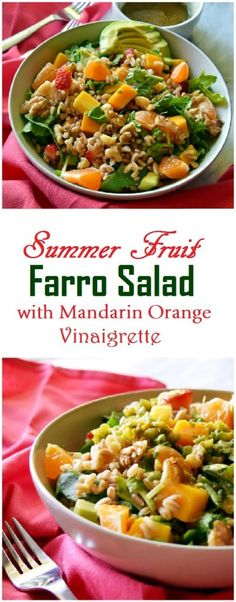 Fruit Farro Salad, This refreshing summer fruit Farro salad can be