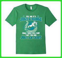 Mens Horse - An Idiot Tshirt 2XL Grass - Animal shirts (*Amazon Partner-Link)