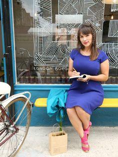Tour London Food with Rachel Khoo Rachel Khoo, Little Paris, Tv Girls, Vintage Swimsuits, Ootd, French Chic, London, Fashion Images, Colorful Fashion