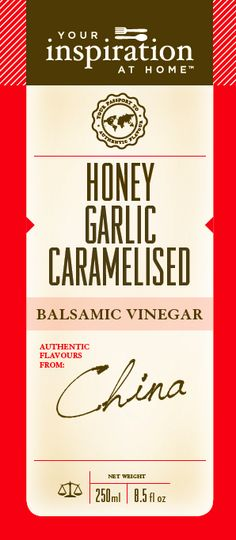Mouth watering combination of Honey and garlic with the rich sweet tang of caramelised balsamic vinegar. Exceptional addition to Asian cooking, chicken, pork, seafood, root vegetables.