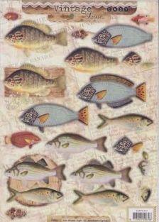 Stanssattu 3D-arkki, kalat