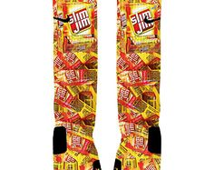 Custom Slim Jim Socks Custom Nike Elites Or Adidas Socks Adidas Socks, Nike Elite Socks, Sexy Socks, Funny Socks, Nike Basketball Socks, Food Socks, Zoom Iphone, Iphone 5c, Socks