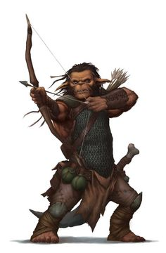 Hobgoblin Fighter Archer - Pathfinder PFRPG DND D&D d20 fantasy