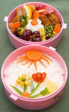 Decorative Veggie Bento