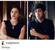 Shadowhunters, The Mortal Instruments, TMI, Alec Lightwood, Isabelle Lightwood