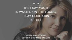 Today's Wise Words courtesy of award-winning MORE Magazine's Editor-in-Chief, Lesley Jane seymour... ht.ly/KvCS0