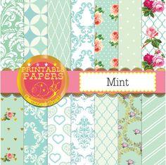 Mint digital paper mint green digital paper. 14 by GemmedSnail
