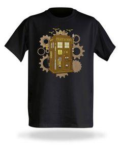 doctor who t-shirt steampunk tardis