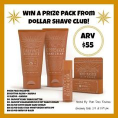 #Win a Dollar Shave Club Prize Pack! - ends 2/4 US Only