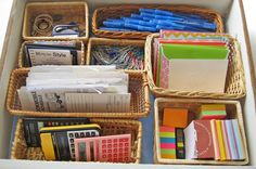 Organizing Drawers and More With Baskets - In My Own Style