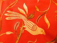 Waverly Robert Allen Home Fabric Remnants Quilting Sewing Cut Flowers Birds  #WaverlyRobertAllenHome