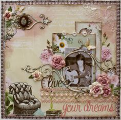 Such a Pretty Mess: Rose Creations Tutorial & 2 Websters Pages Layouts!