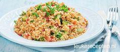 Ideaal recept voor op warme dagen: koele bulgur salade ook wel kisir genoemd in het Turks