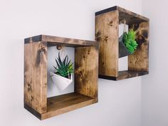 Plant Shelf - Plant Wall Shelf - Wall Shelf - Shelf - Home D.- Plant Shelf – Plant Wall Shelf – Wall Shelf – Shelf – Home Decor – Modern Home Decor – Squares – Square Shelf – Hanging Shelf – Wall Decor Plant Shelf Plant Wall Shelf Wall Shelf Shelf Home Plant Shelves, Hanging Shelves, Wall Shelves, House Plants Decor, Plant Decor, Easy Woodworking Projects, Diy Projects, Woodworking Patterns, Succulent Wall