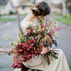 Floral feels for the weekend 🌸 Incredible bouquet by image by from Fall Bouquets, Floral Bouquets, Wedding Bouquets, Floral Wreath, Bridal Flowers, Autumn Wedding, Floral Wedding, Wedding Bride, Boho Wedding