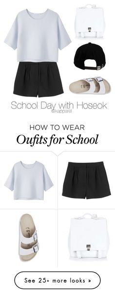 """School Day with Hoseok"" by kapparel on Polyvore featuring Proenza Schouler, Monki, Alexander Wang, Brixton and Birkenstock"