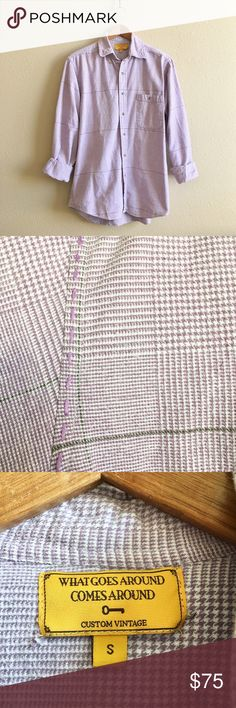 WGACA Vintage Lilac Flannel Details to come!  BRAND:  MATERIAL:  YEAR/ERA:  LABEL SIZE:  BEST FIT:  MEASUREMENTS: Chest  Length   🚫 I do not model or trade, sorry! 💟 Check out my closet for more vintage! What Goes Around Comes Around Tops Button Down Shirts