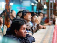 Muay Thai fans, Chang Mai, Thailand