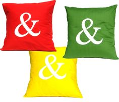 love these ampersand pillows