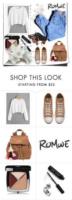"""""""romwe"""" by nejra-l ❤ liked on Polyvore featuring The Wolf Gang, Katie, Chanel, Bobbi Brown Cosmetics and Levi's"""