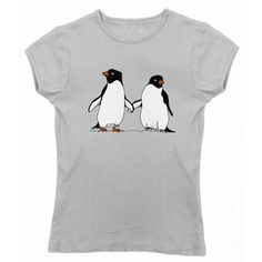 Penguin Lovers Tee Womens by Ex-Boyfriend