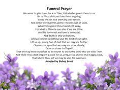 Swanborough Funerals have put together over 100 funeral poems and readings for you to select from.