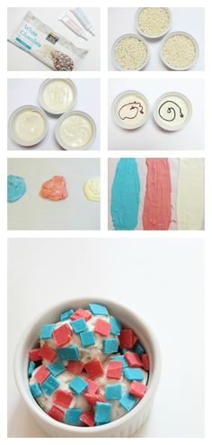 Red, white & blue chocolate chips!