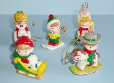 Vintage Joan Walsh Anglund Christmas Ornaments by AnEclecticEccentrica