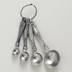 """World Market """"vintage"""" measuring spoons. $12. adorbs."""