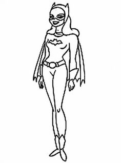 Bat Woman Is A Friend Of Batman Beautiful Coloring Page
