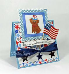 Happy Independence Day by @debbiemom23cs  for @therubbercafe using @doodlebugdesign #card @spellbinders