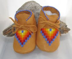 Native American Beaded Baby Moccasins in a by AuthenticNativeMade, $58.00