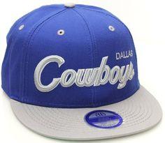 Dallas Cowboys Flat Bill Script Style Snapback Hat Cap Blue Gray NFL.  14.99 14780a85c