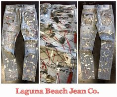 NEW Laguna Beach Jean Co. Foil Print Jeans for Spring/Summer 17 👖 Available online: http://lagunabeachjc.com/proddetail.php?prod=Redondo-Beach-Quilted-Foil-Moto-Dark-Grey%2F-Red-Paint-%26amp%3B-Silver-Foil-Splatter ⚜️#rocktheoclifestyle