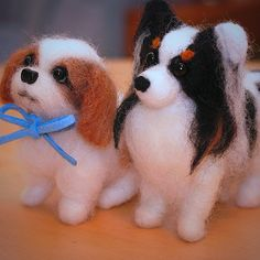 .@momos_gallery | Papillon and Shih Tzu , Needle Felting | Webstagram - the best Instagram viewer